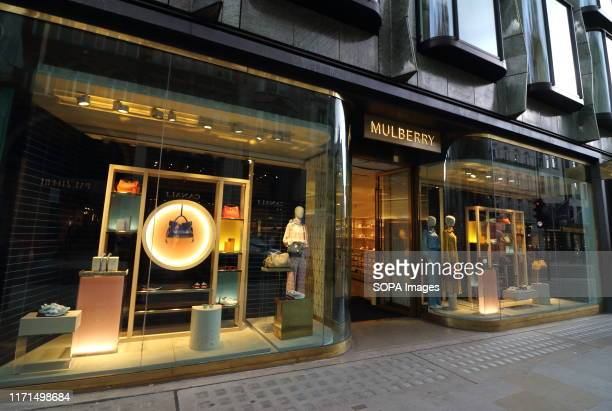 Mulberry store in the Luxury Fashion and Jewellery shopping area on London's New Bond Street.