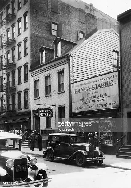 Mulberry Street scene in Little Italy on the Lower East Side photographed by Charles von Urban Manhattan New York City New York USA 1932