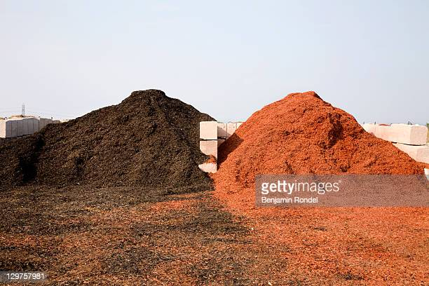 mulch piles for sale - mulch stock pictures, royalty-free photos & images