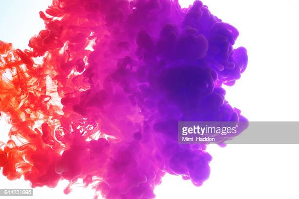 Mulit Colored Inks Exploding in Water