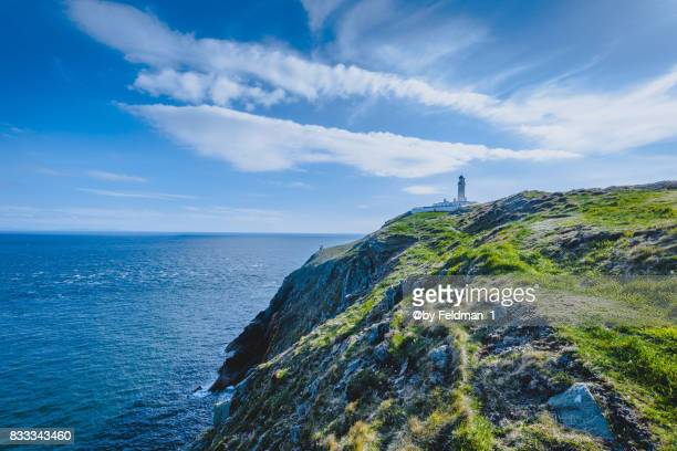 mull of galloway lighthouse,scotland,uk,europe - dumfries stock pictures, royalty-free photos & images