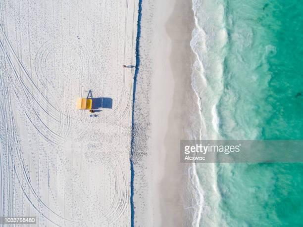 perth, western austrália praia antena - austrália ocidental - fotografias e filmes do acervo
