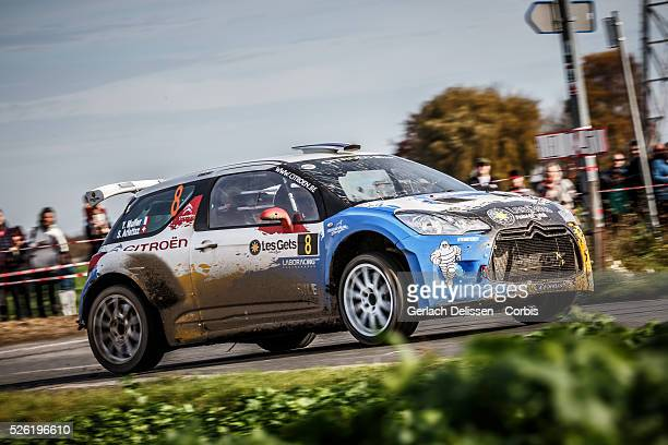 Muller and Ariettaz in the Citroen DS3 R5 in action during the 42e Rallye Du CondrozHuy in Huy Belgium on November 8 2015
