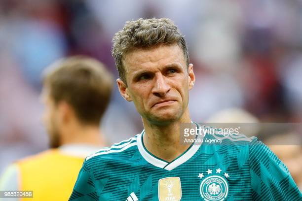 Muller of Germany reacts after losing the 2018 FIFA World Cup Russia Group F match against Korea Republic at the Kazan Arena in Kazan, Russia on June...