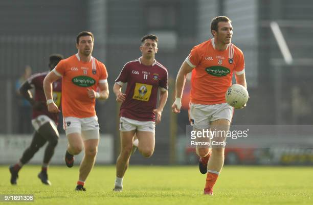 Mullingar Ireland 9 June 2018 Brendan Donaghy of Armagh during the GAA Football AllIreland Senior Championship Round 1 match between Westmeath and...
