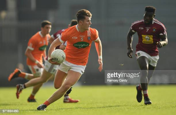 Mullingar Ireland 9 June 2018 Joe McElroy of Armagh during the GAA Football AllIreland Senior Championship Round 1 match between Westmeath and Armagh...
