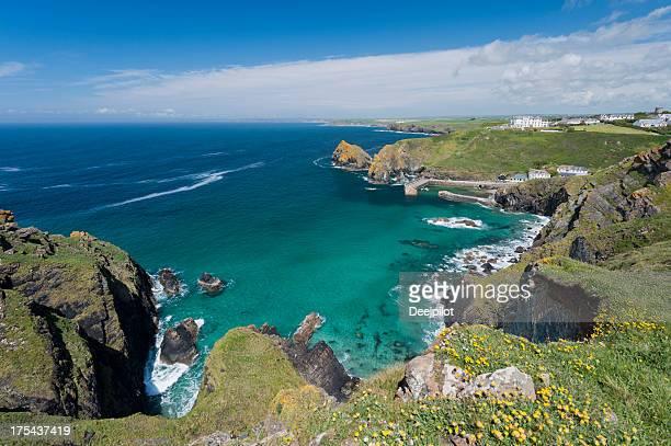 Mullion Cove and Bay in Cornwall UK