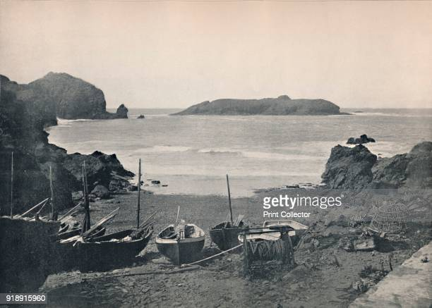 'Mullion Cove Showing Mullion Island' 1895 From Round the Coast [George Newnes Limited London 1895]Artist Unknown