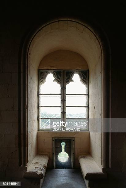 A mullioned window William the Conqueror's castle Falaise Lower Normandy France 12th13th century