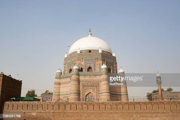 Multan, Pakistan, 4 October 2018. A view of Shah Rukn-e-Alam's mausoleum. Shah Rukn-e-Alam, who lived for the 14th century, was a prominent figure of...