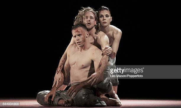 Multi awardwinning Russian classical ballerina Natalia Osipova Jason Kittelberger and James O'Hara perform contemporary work in 'Qutb' for the first...