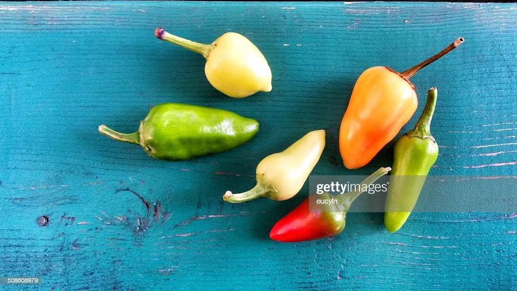 Multi Color Pepper : Stock Photo