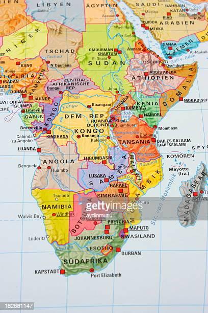 Multicolore carte de l'Afrique