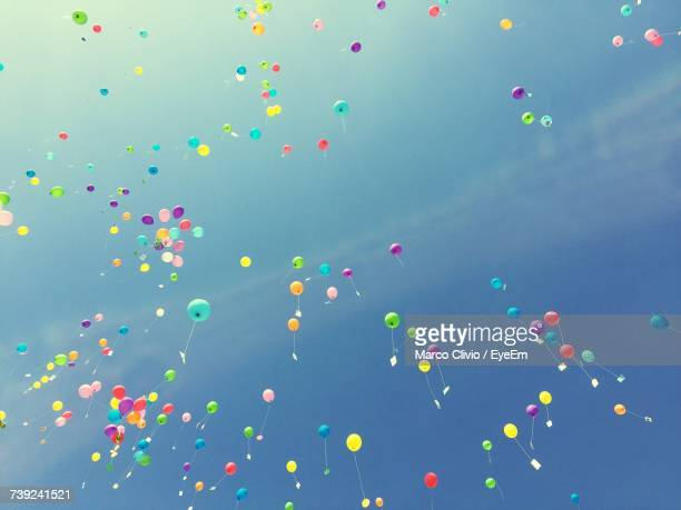 Multi Colored Balloons In Sky