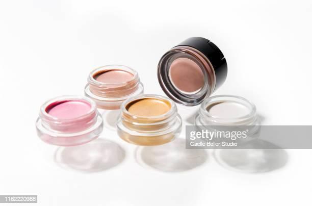 multi colored cream eye shadows - アイシャドウ ストックフォトと画像