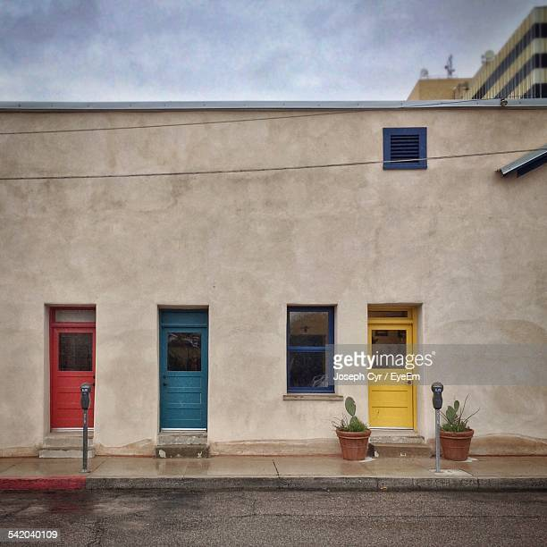 Multi Colored Doors Of House