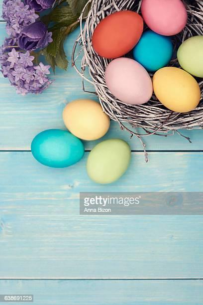 Multi colored Easter handmade decorations. Debica, Poland