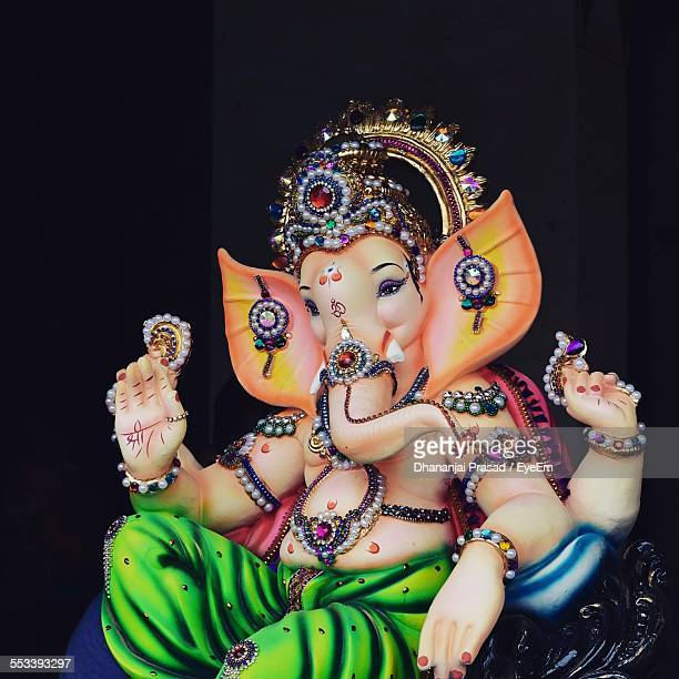 Multi Colored Ganesha Statue