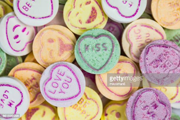 Multi colored Heart Shape Candy With Text