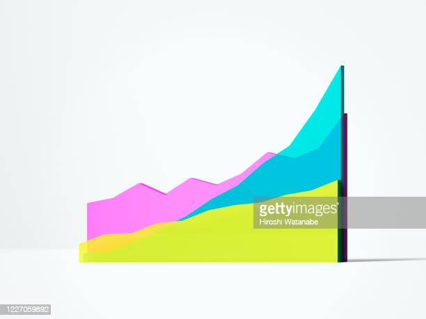 multi colored line chart - chart stock pictures, royalty-free photos & images