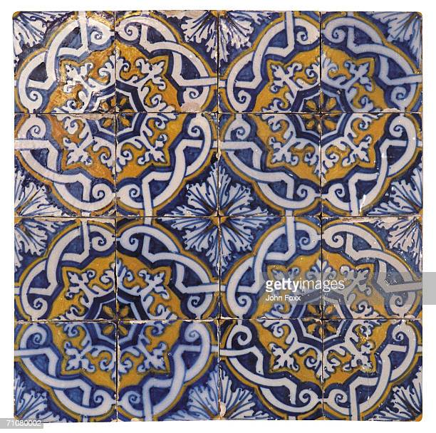 Multi colored Mosiac tile, full frame