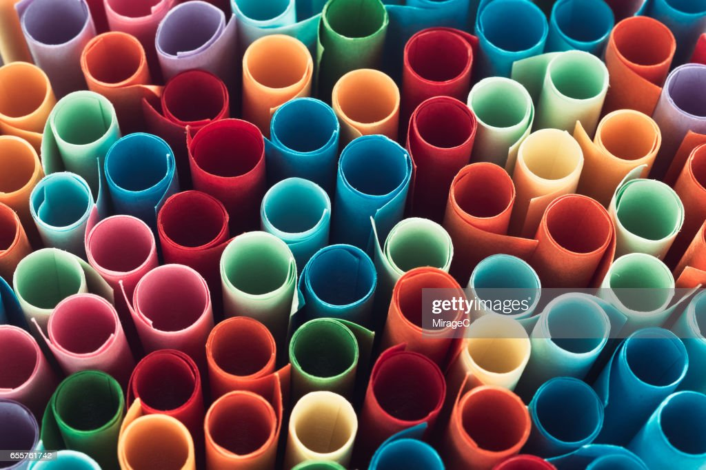multi colored paper scroll raffle tickets stock photo getty images