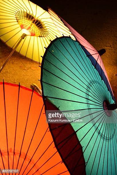 Multi Colored Paper Umbrellas