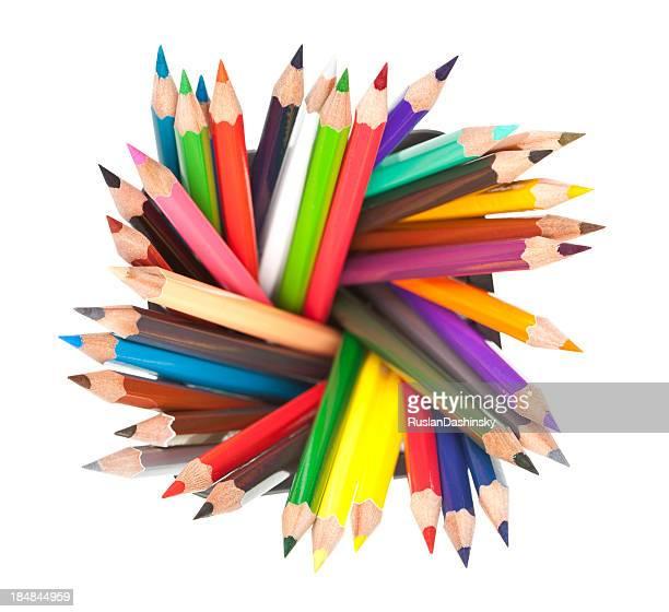 Multi colored pencil.