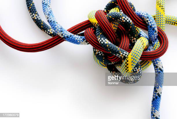 Multi colored rope in a Gordian knot