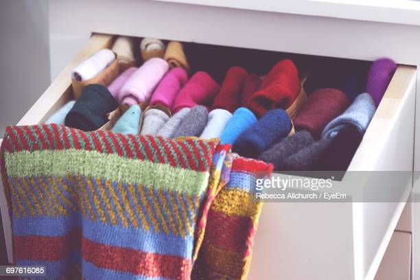 Multi Colored Socks In Drawer