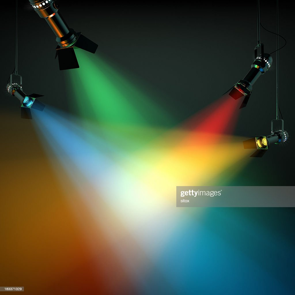 Multi Colored Stage Lights : Stock Photo