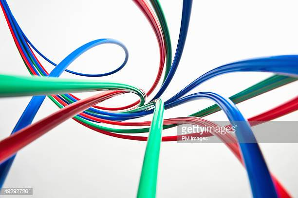 multi colored tubing - red tube stock pictures, royalty-free photos & images