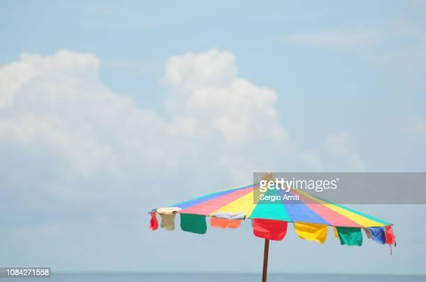 Multi coloured parasol