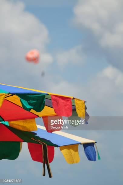 Multi coloured parasols