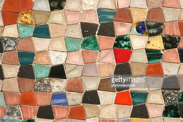 Multi coloured texture pavement (detail)