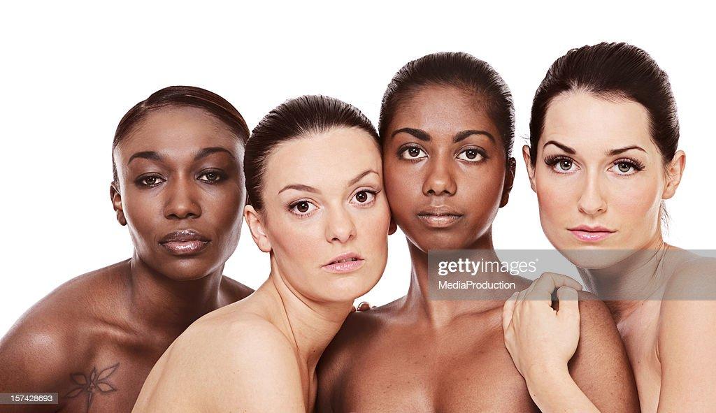 multi ethnic girls : Stock Photo