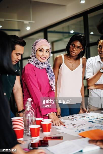 Multi ethnic team in global company