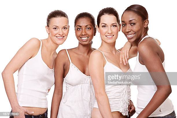 multi ethnic young girls