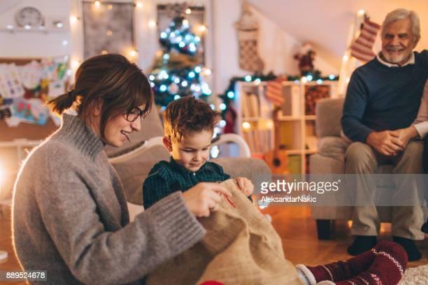 Multi générationnel famille fête Noël