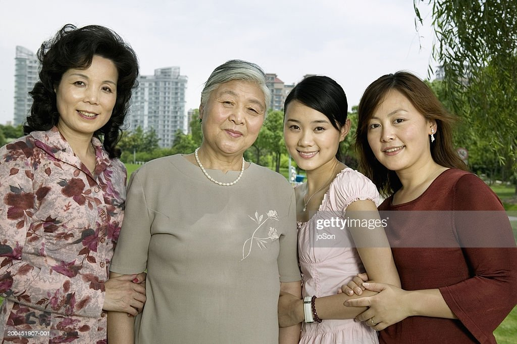 Multi generational female family, portrait : Stock Photo