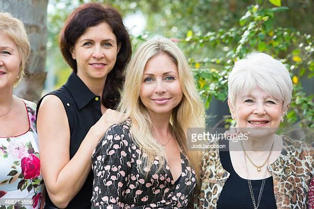 Multi generational portrait of four caucasian women  rm