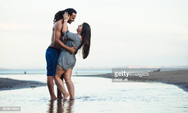Multi racial couple in love.
