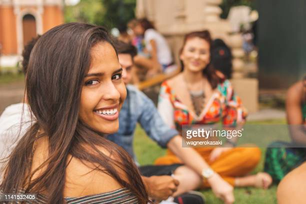 multi racial group of friends enjoying time together - para state stock pictures, royalty-free photos & images