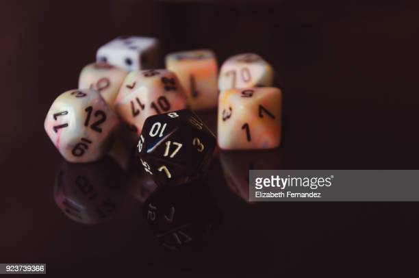 Multi sided numbered dice