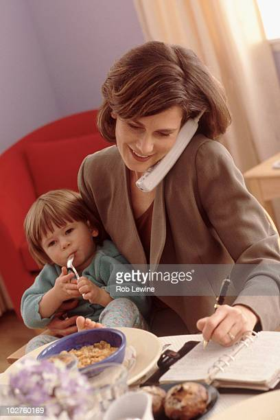 Multi tasking mother