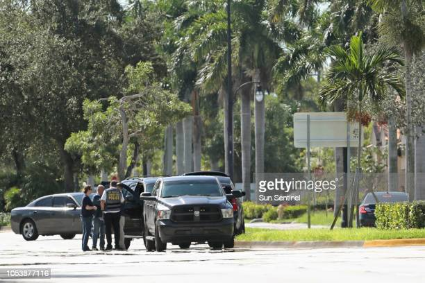 Multi-agency taskforce at the AutoZone store on State Road 7 in Plantation where Cesar Sayoc Jr. Of Aventura, was arrested on Friday, Oct. 26 in...