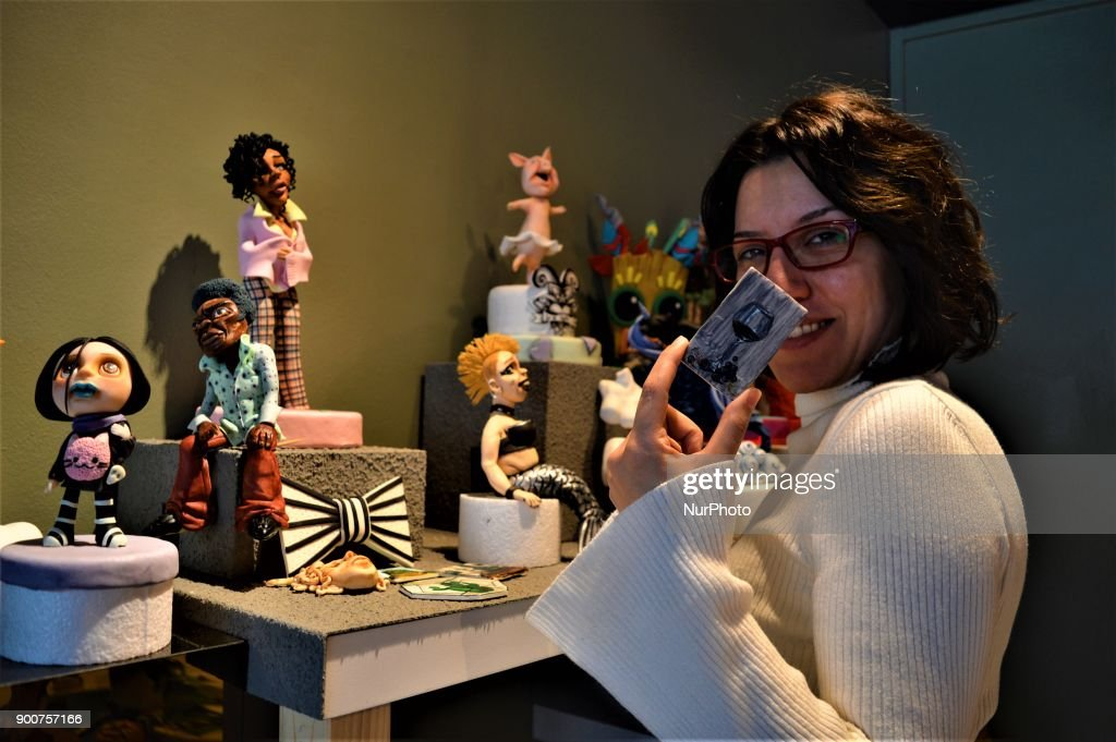Multi-award-winning Turkish sugar artist Ayca Duman Kaleli shows a figure made from sugar paste as she poses for a photo at her cake design workshop in Ankara, Turkey on January 3, 2018. Kaleli designs different kinds of characteristic figures in her workshop, while her family has been carrying on a pastry shop for five generations.