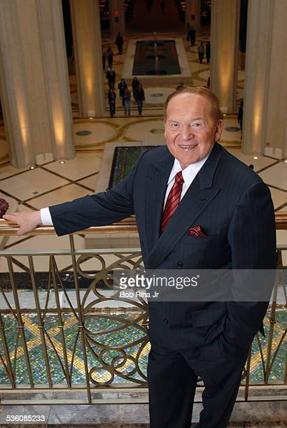 Multibillionaire Sheldon Adelson at The Palazzo Las Vegas his newest casinohotel on the Las Vegas Strip January 8 2008 in Las Vegas Nevada