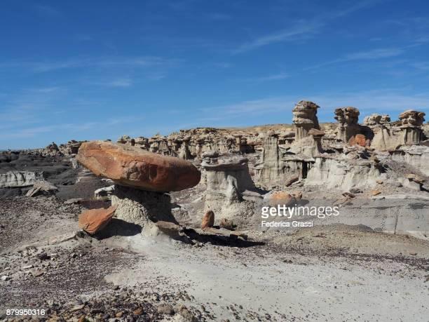 Multicolor Badlands and Rock Hoodoos at Ah-Shi-Sle-Pah Wilderness Study Area, NM