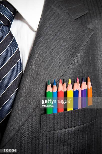 multicolor businessman